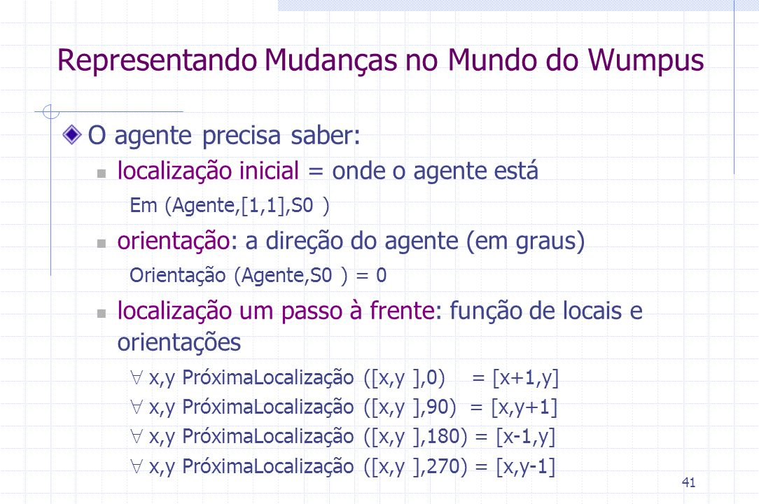 Representando Mudanças no Mundo do Wumpus