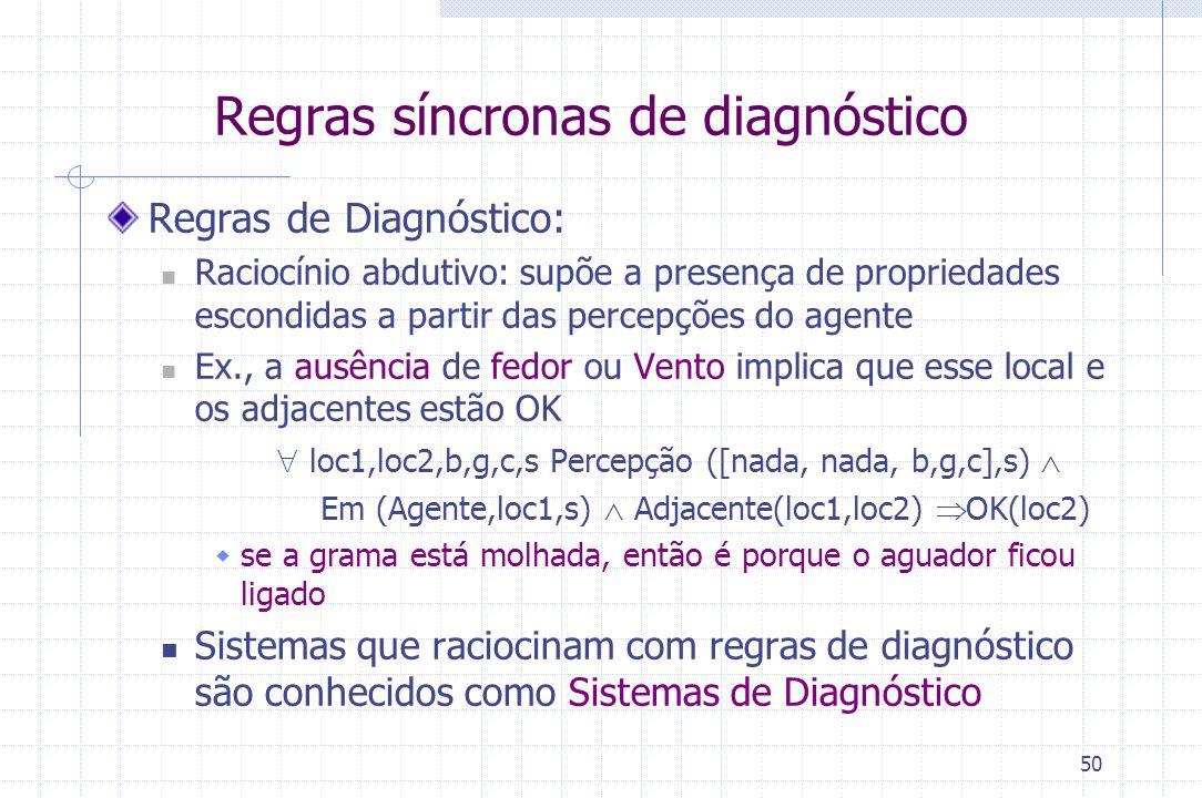Regras síncronas de diagnóstico