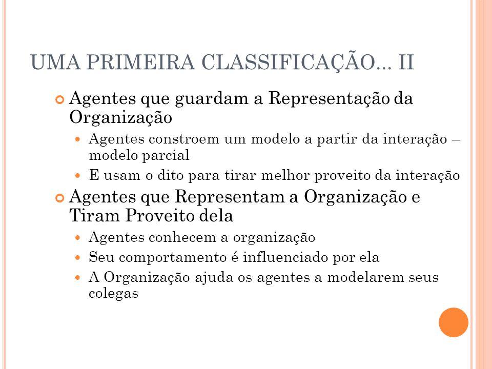 UMA PRIMEIRA CLASSIFICAÇÃO... II