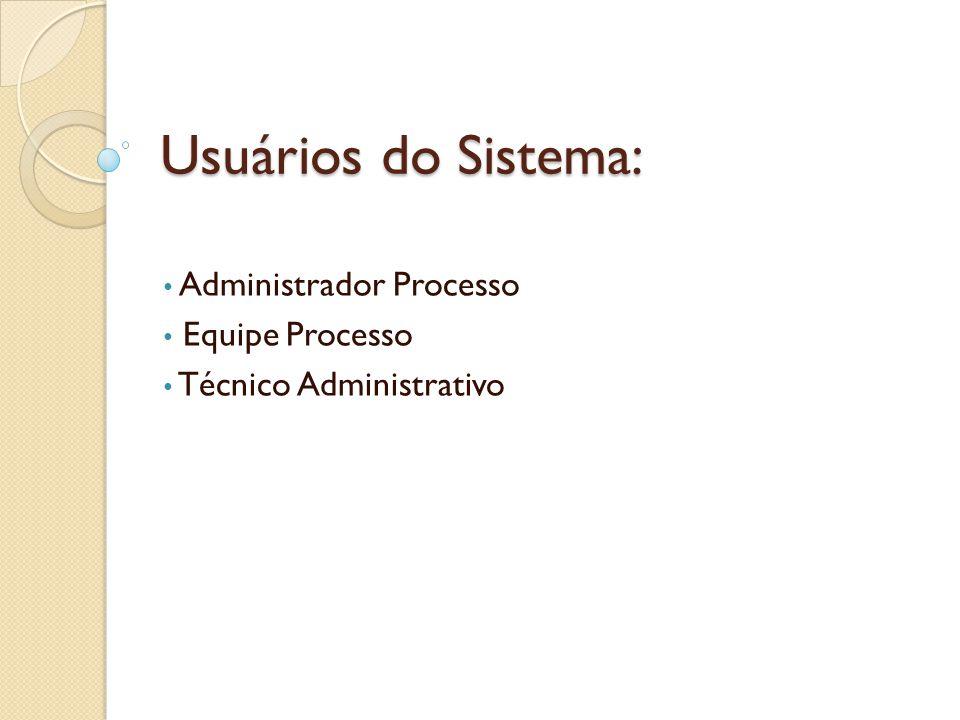 Administrador Processo Equipe Processo Técnico Administrativo