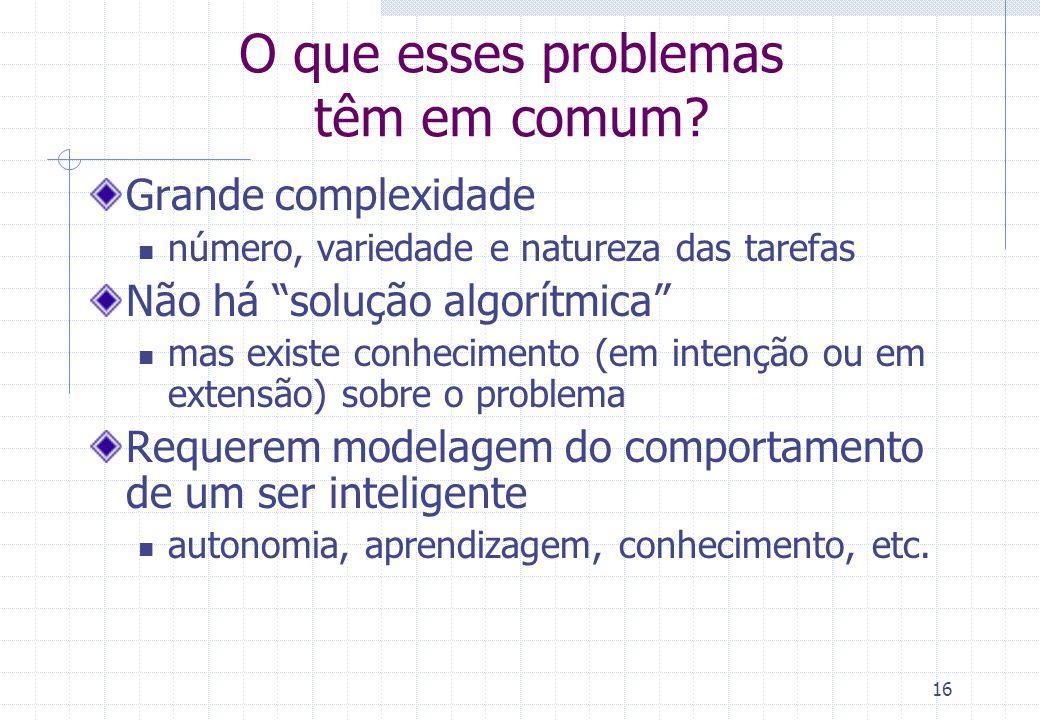 O que esses problemas têm em comum