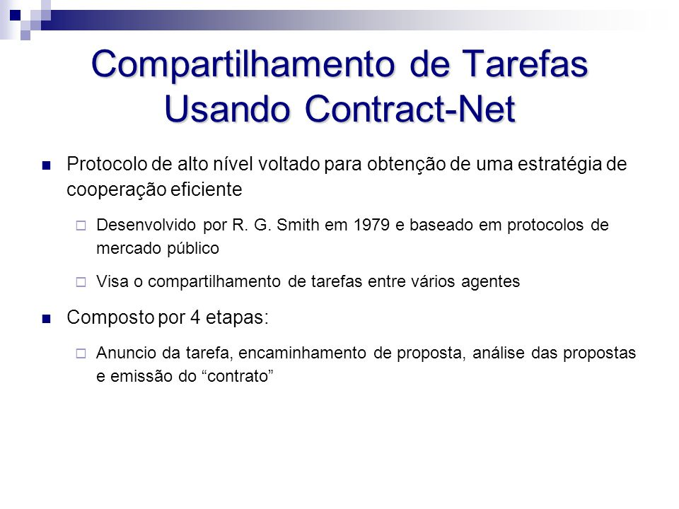 Compartilhamento de Tarefas Usando Contract-Net