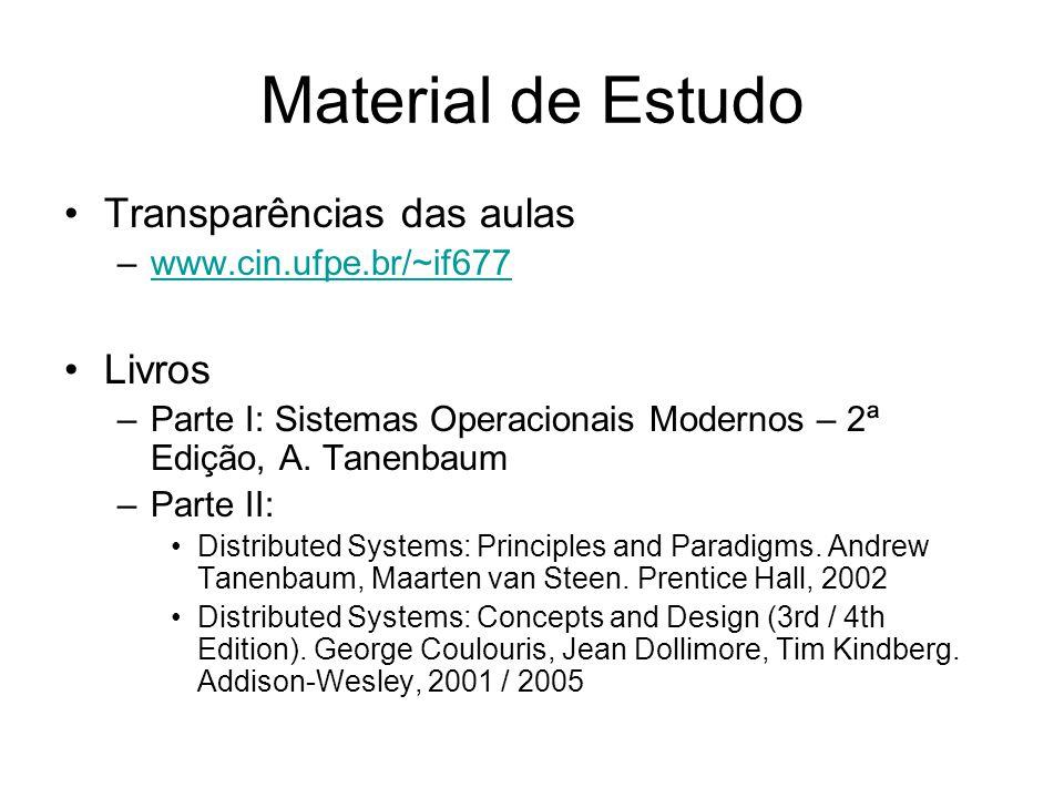 Material de Estudo Transparências das aulas Livros