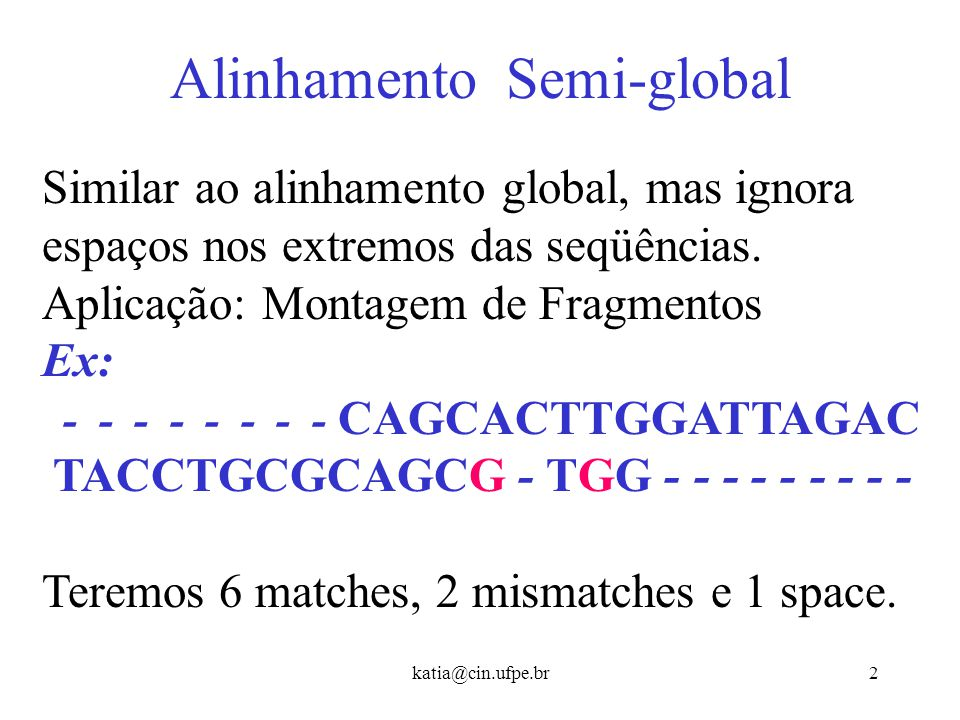Alinhamento Semi-global