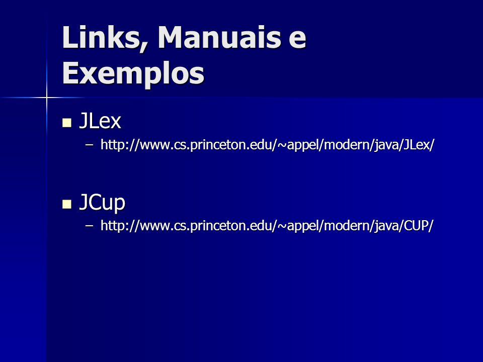 Links, Manuais e Exemplos
