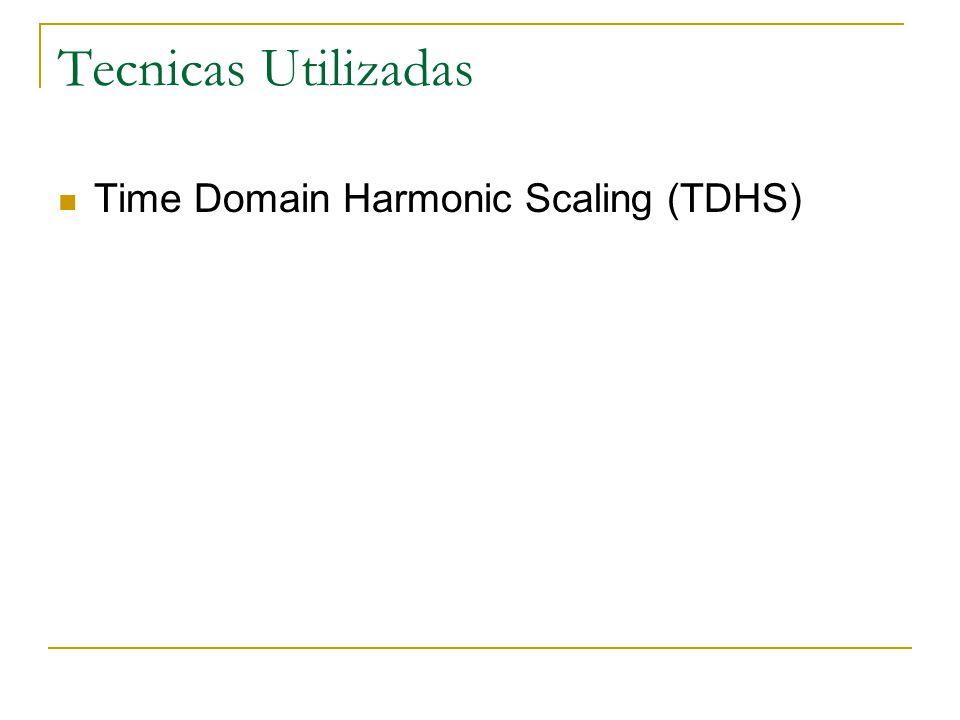 Tecnicas Utilizadas Time Domain Harmonic Scaling (TDHS)
