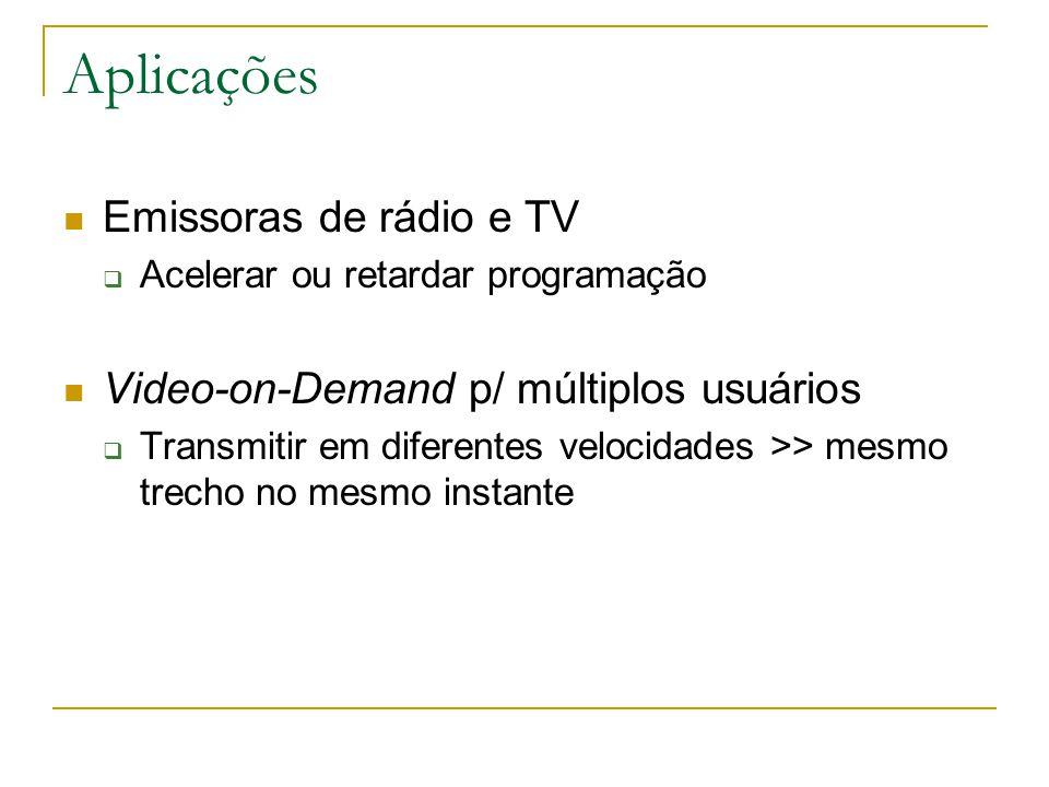 Aplicações Emissoras de rádio e TV