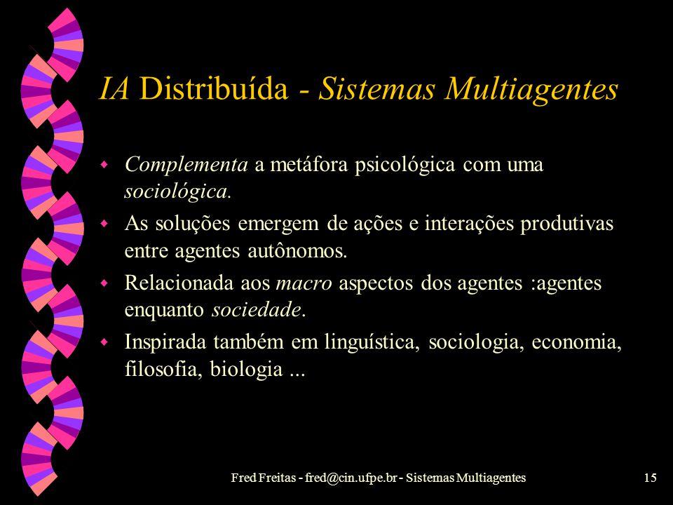 IA Distribuída - Sistemas Multiagentes