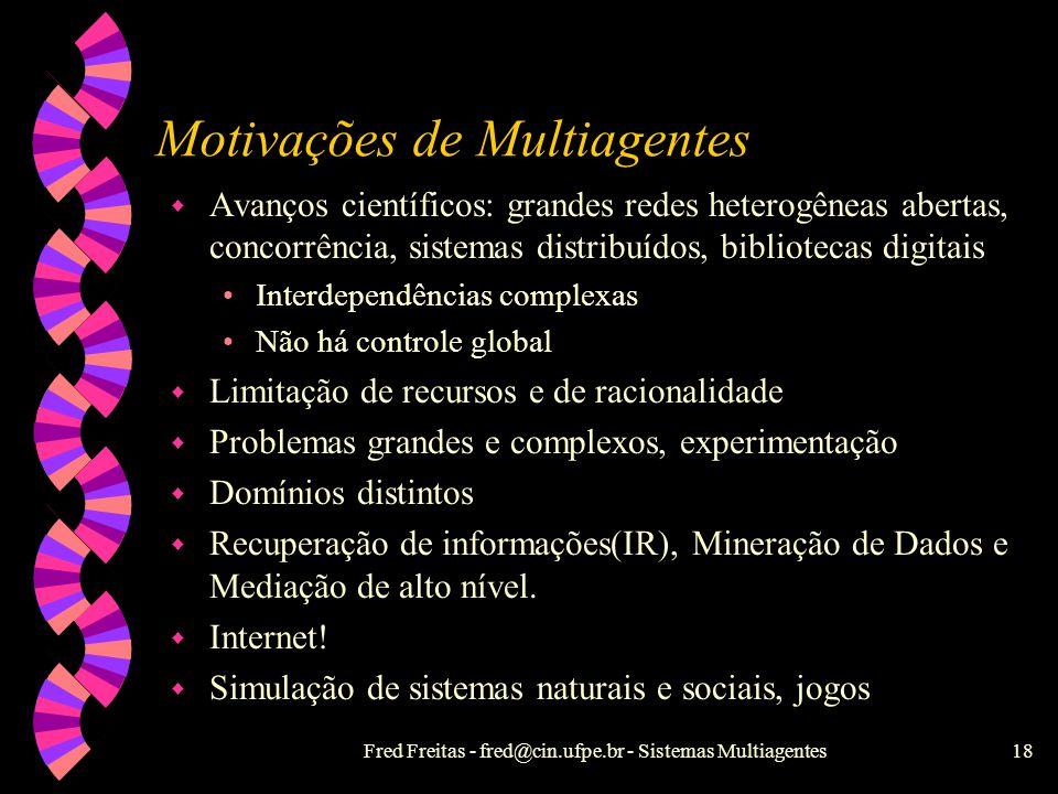 Motivações de Multiagentes
