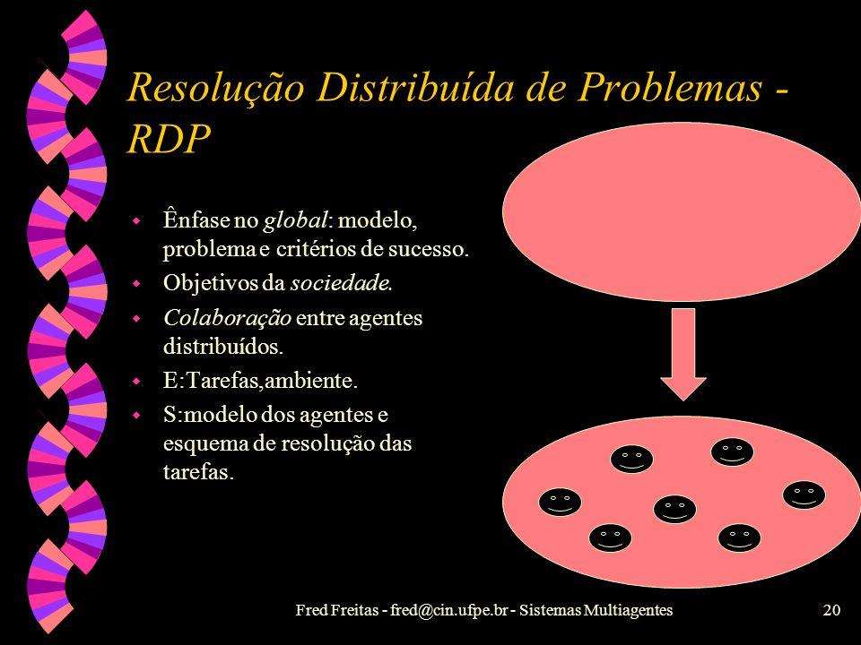 Resolução Distribuída de Problemas - RDP