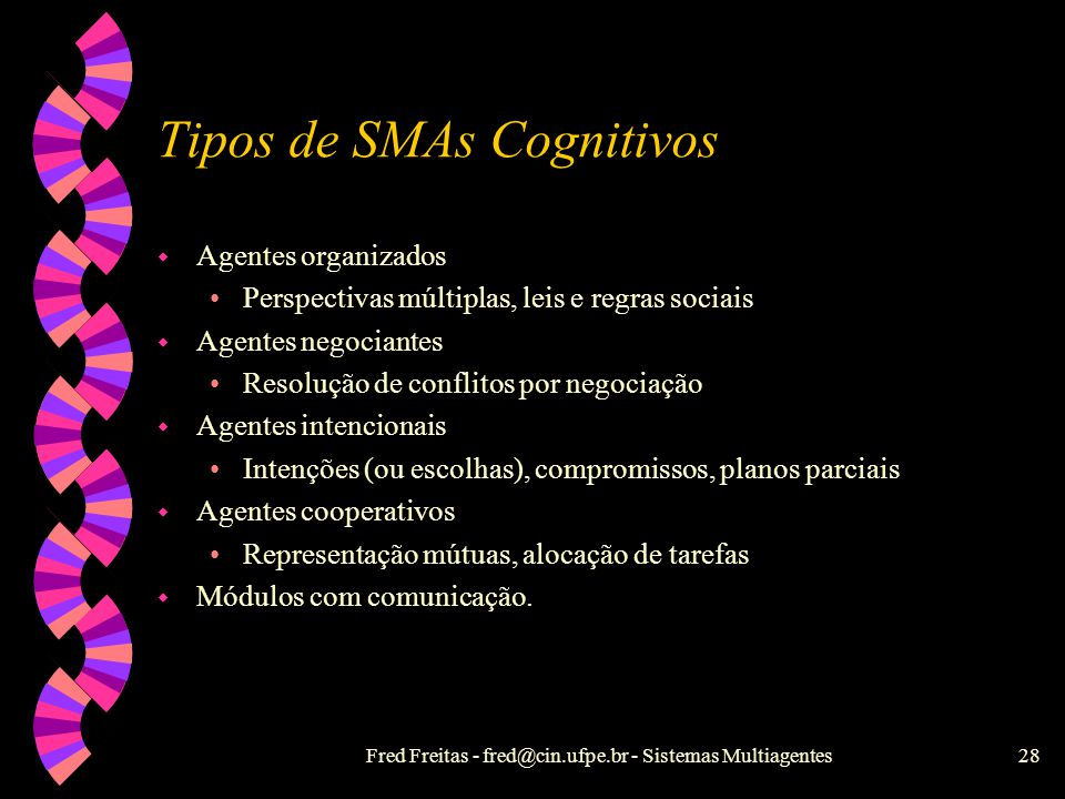 Tipos de SMAs Cognitivos