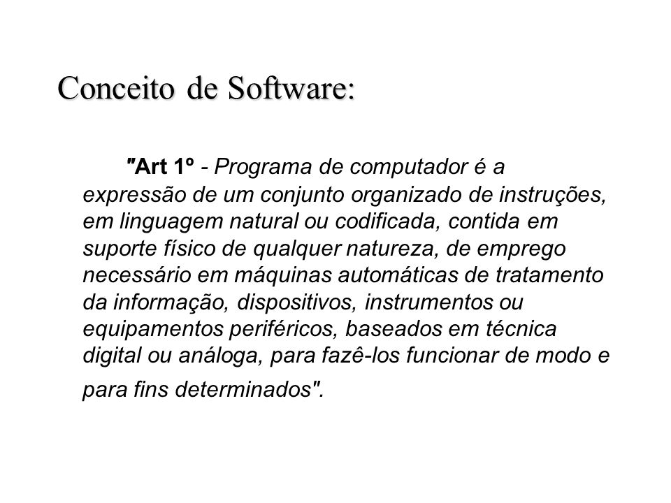 Conceito de Software: