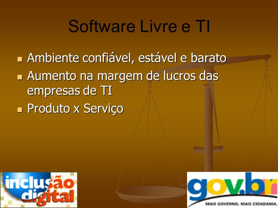 Software Livre e TI Ambiente confiável, estável e barato