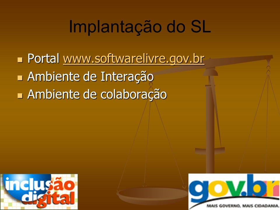 Implantação do SL Portal www.softwarelivre.gov.br
