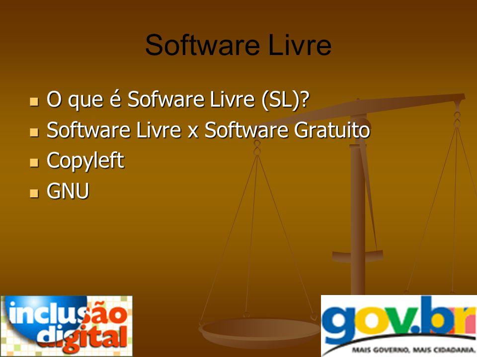 Software Livre O que é Sofware Livre (SL)