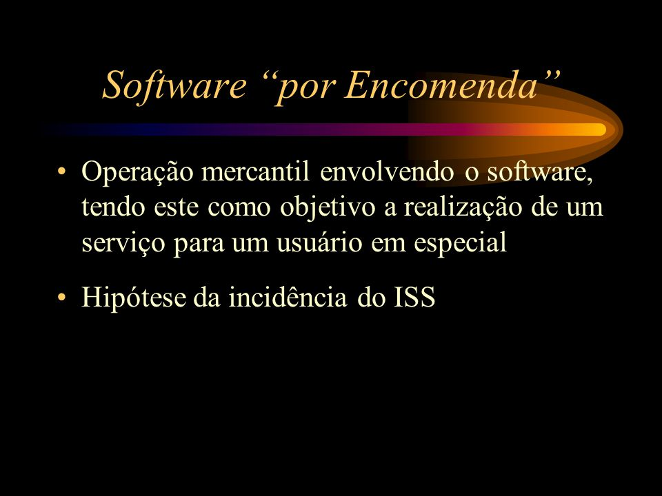 Software por Encomenda