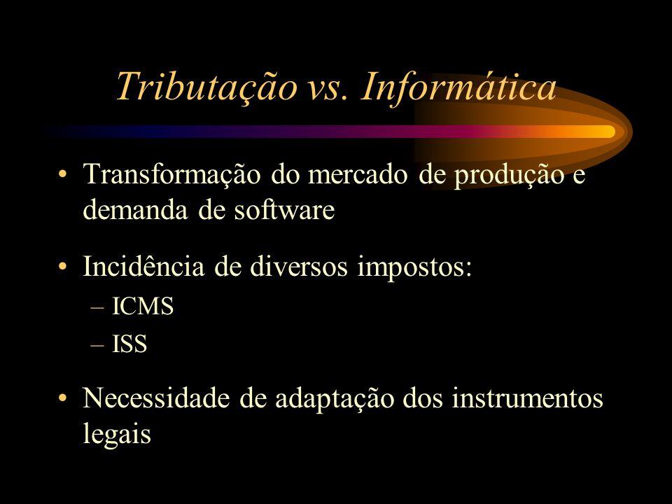 Tributação vs. Informática