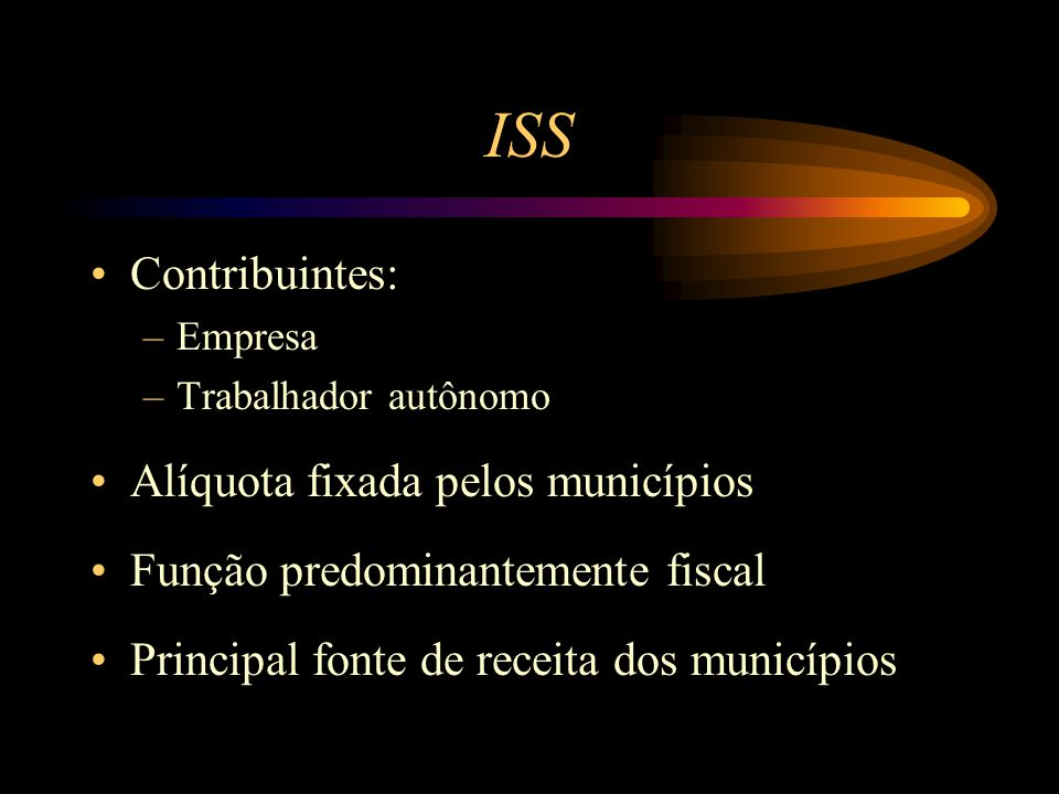 ISS Contribuintes: Alíquota fixada pelos municípios
