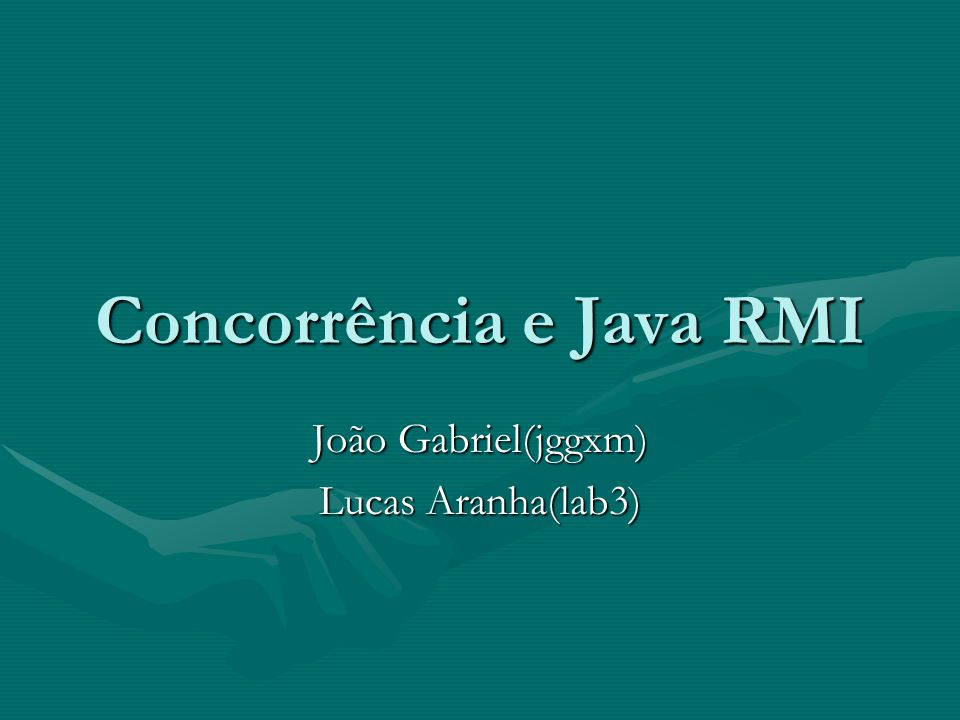Concorrência e Java RMI