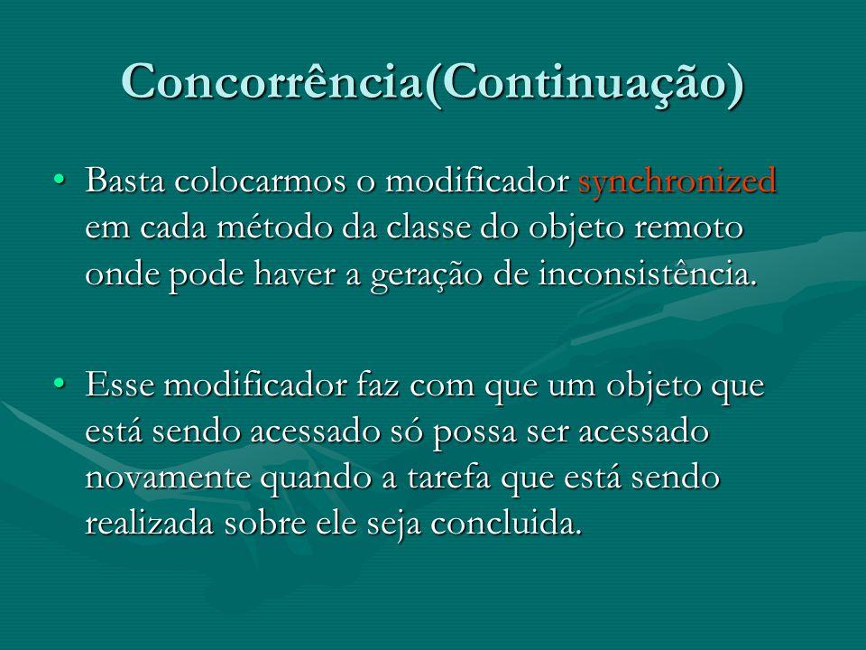 Concorrência(Continuação)
