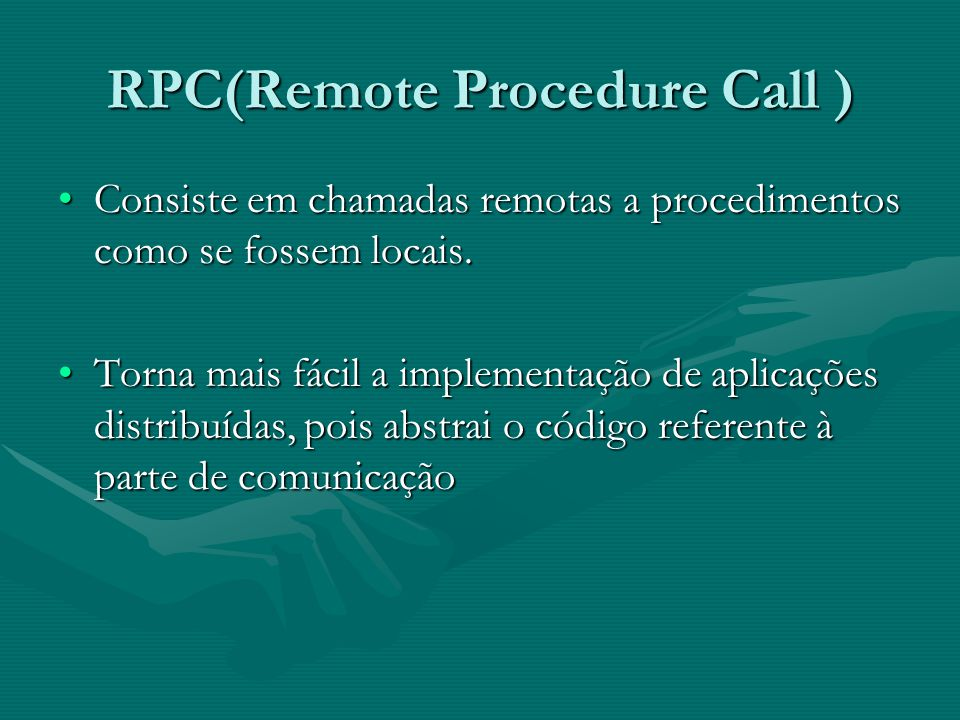 RPC(Remote Procedure Call )