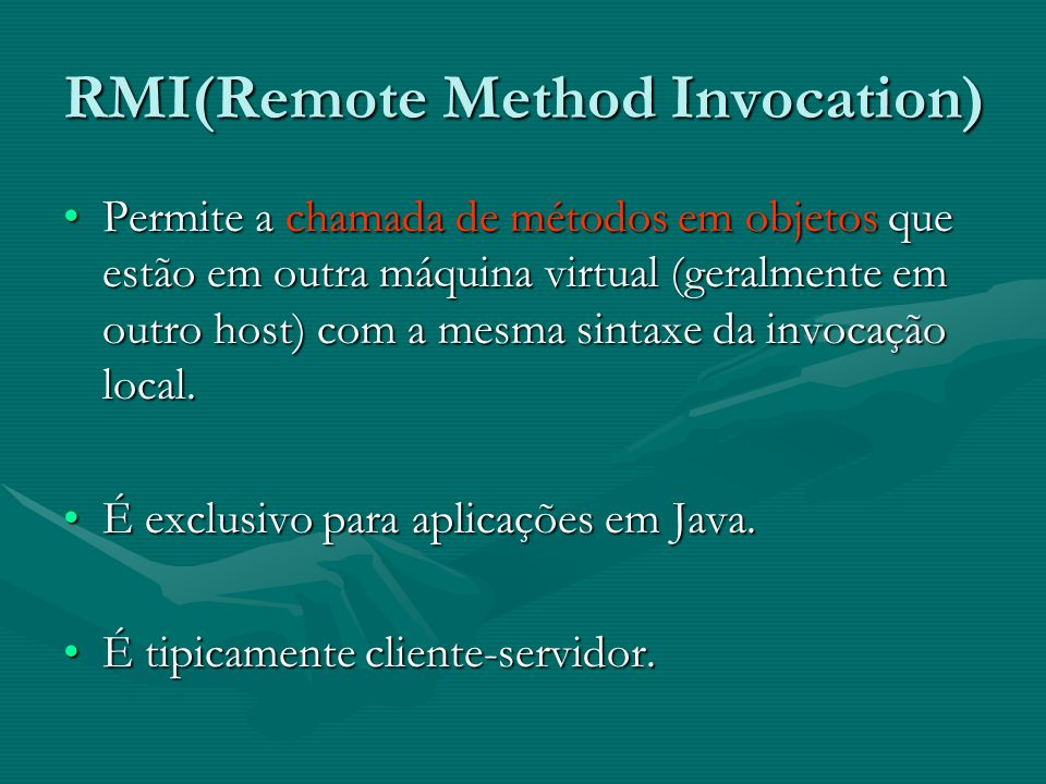 RMI(Remote Method Invocation)