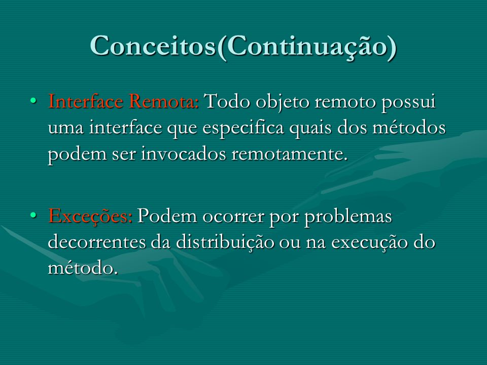 Conceitos(Continuação)