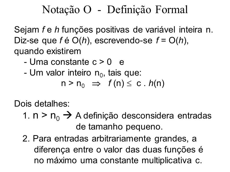 Notação O - Definição Formal