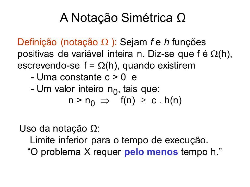 A Notação Simétrica Ω