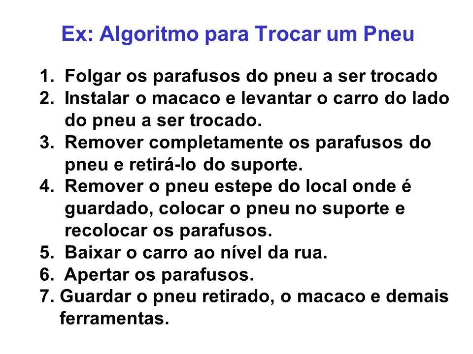 Ex: Algoritmo para Trocar um Pneu