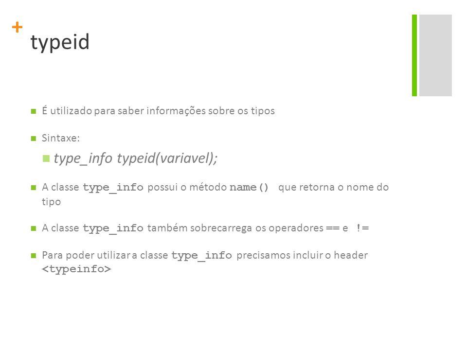 typeid type_info typeid(variavel);