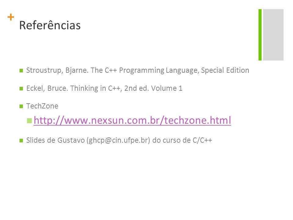Referências http://www.nexsun.com.br/techzone.html