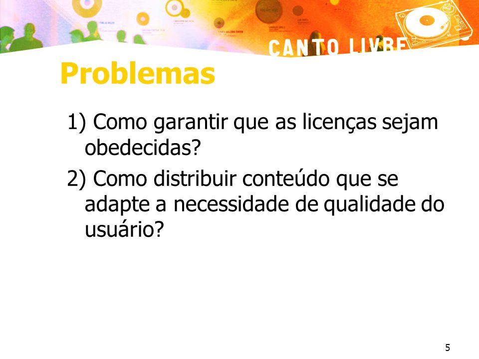 Problemas 1) Como garantir que as licenças sejam obedecidas