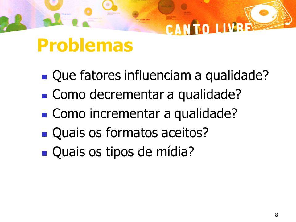 Problemas Que fatores influenciam a qualidade