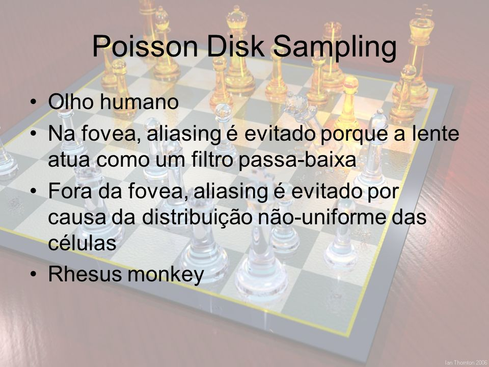 Poisson Disk Sampling Olho humano