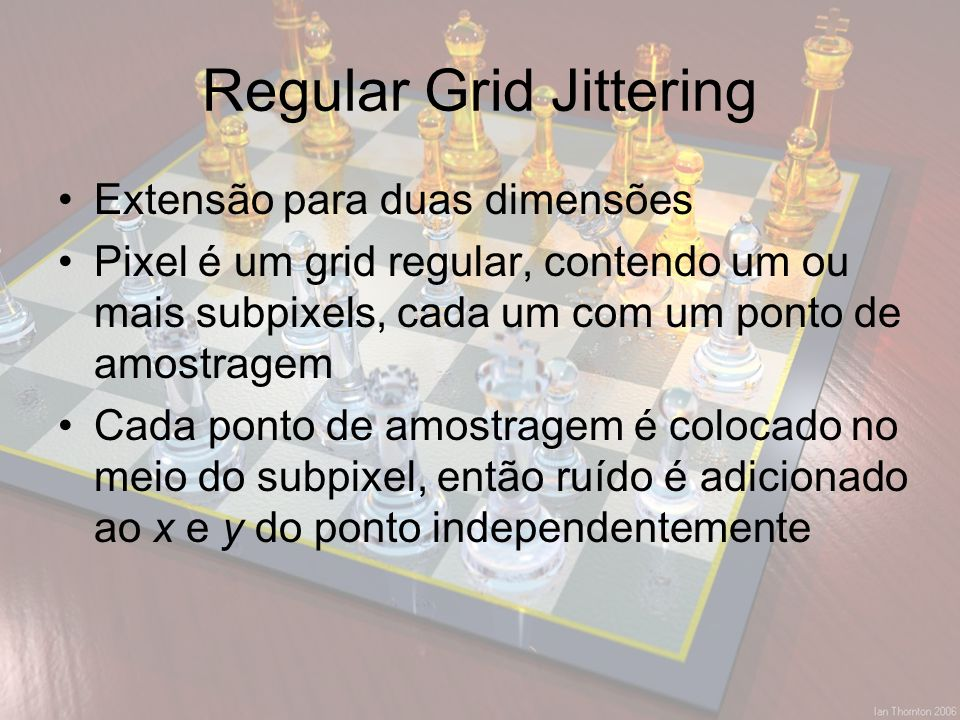Regular Grid Jittering