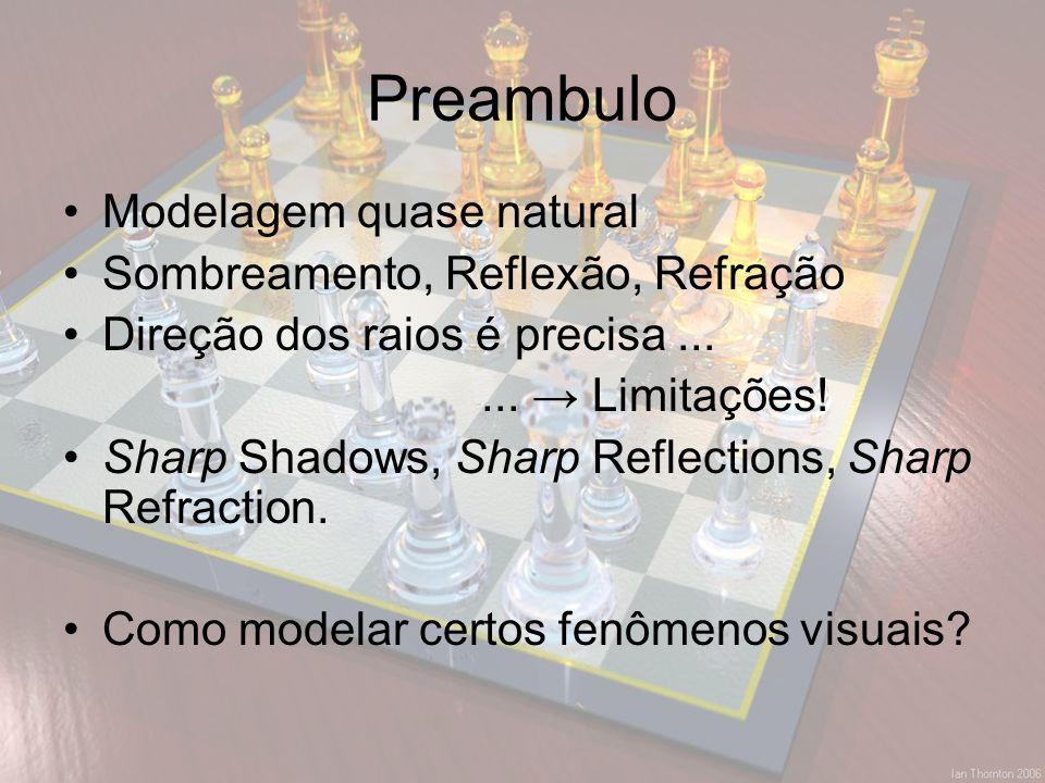 Preambulo Modelagem quase natural Sombreamento, Reflexão, Refração