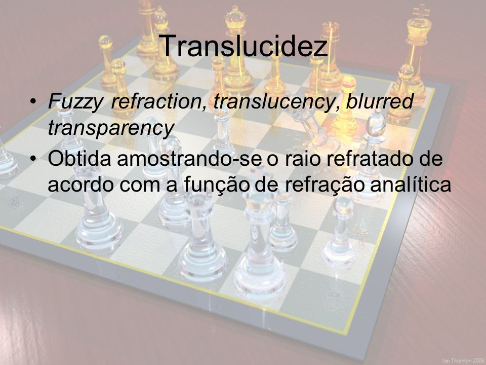 Translucidez Fuzzy refraction, translucency, blurred transparency