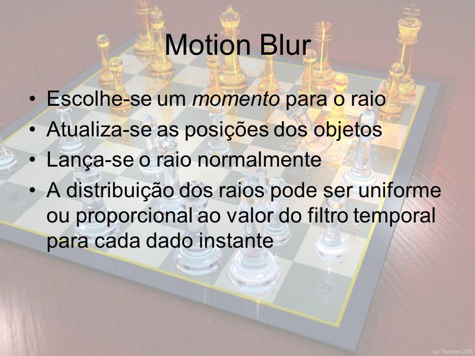 Motion Blur Escolhe-se um momento para o raio