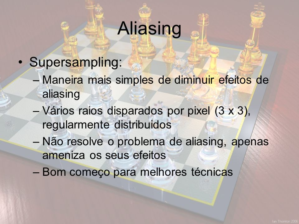 Aliasing Supersampling: