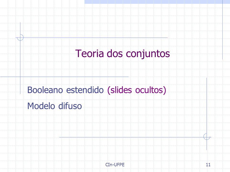 Booleano estendido (slides ocultos) Modelo difuso