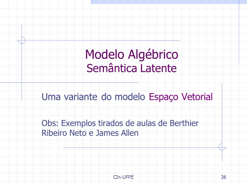 Modelo Algébrico Semântica Latente