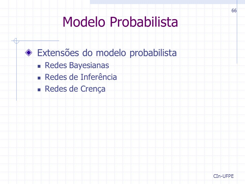 Modelo Probabilista Extensões do modelo probabilista Redes Bayesianas