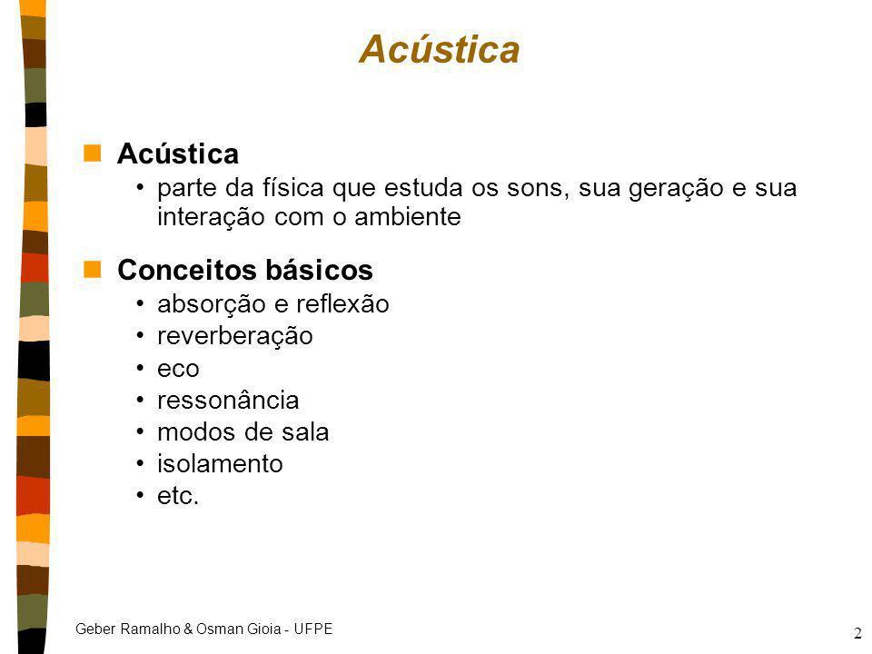 Acústica Acústica Conceitos básicos