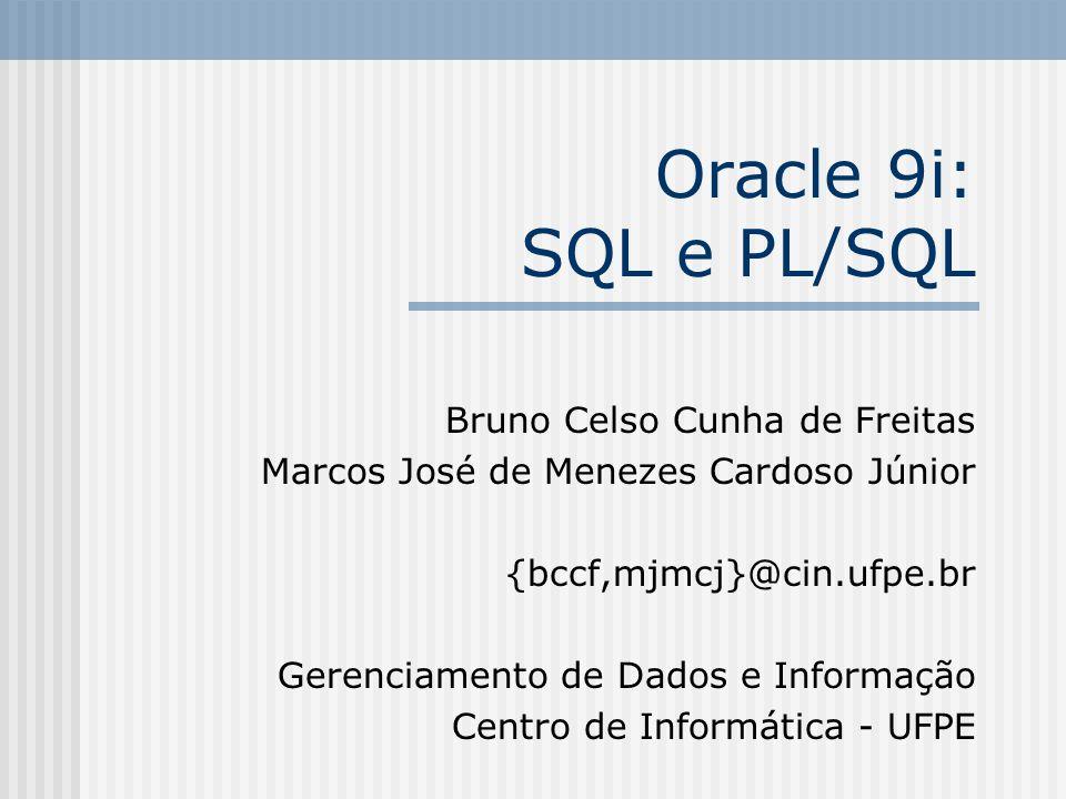 Oracle 9i: SQL e PL/SQL Bruno Celso Cunha de Freitas