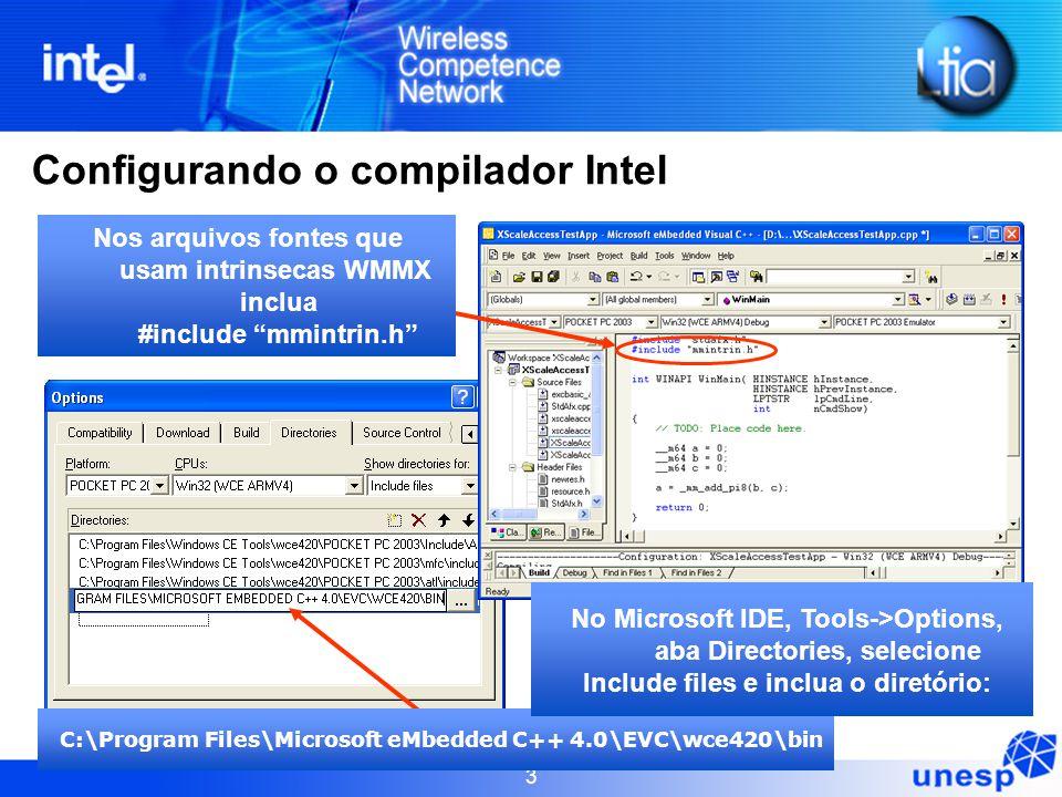 Configurando o compilador Intel