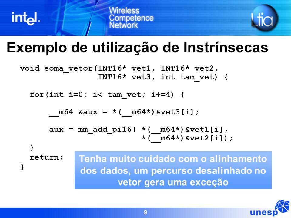 Exemplo de utilização de Instrínsecas