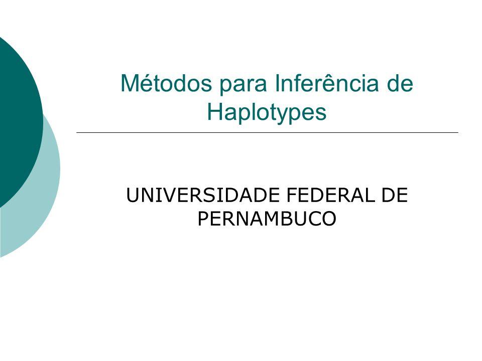 Métodos para Inferência de Haplotypes