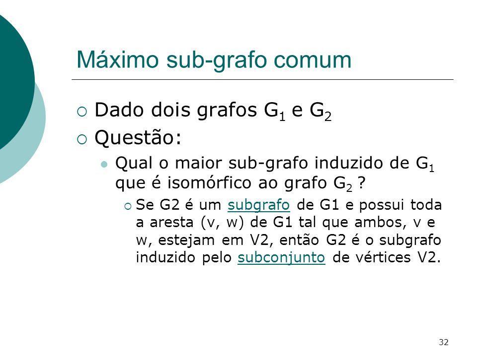 Máximo sub-grafo comum