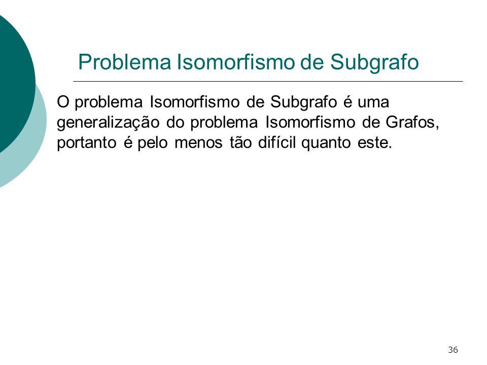 Problema Isomorfismo de Subgrafo